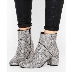 Miss Selfridge Diva Multi Glitter Boots